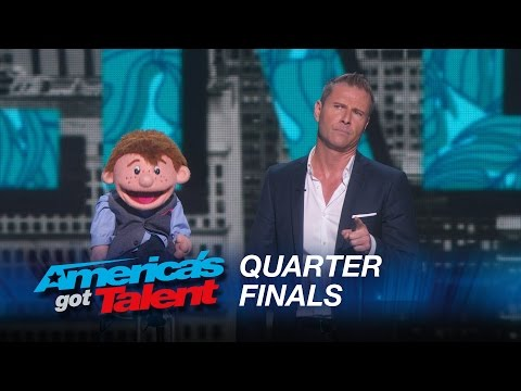 Paul Zerdin: Dummy Still Performs After Ventriloquist Walks Off Stage - America's Got Talent 2015