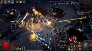 Path Of Exile - Pure Phys Skeletons Necromancer Red Elder Kill (3.2)