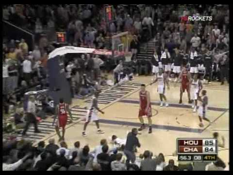 Yao ming 3 pointer  Vs  Bobcats 3/13/2009