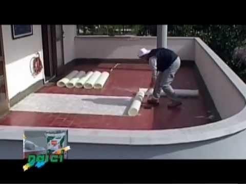 Cemenguaina guaina liquida impermeabilizzante naici youtube - Resine per terrazzi esterni ...