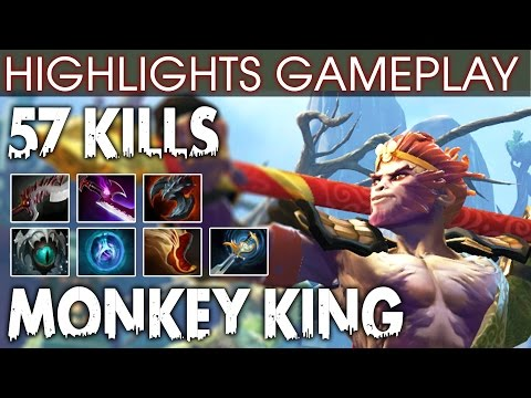 Dota 2 Monkey King Highlights - Power of New Hero with 57 KILLS EZ