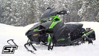 Ski doo summit 850 and arctic cat alpha one in deep snow