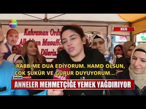 Anneler Mehmetçiğe yemek yağdırıyor