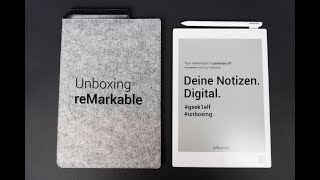 Unboxing ReMarkable - Deine Notizen. Digital.