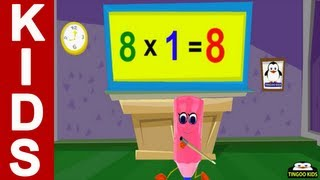 HomeSchool Tutorial | 8 Times Table Song | Kids Math Online Education (English Language)