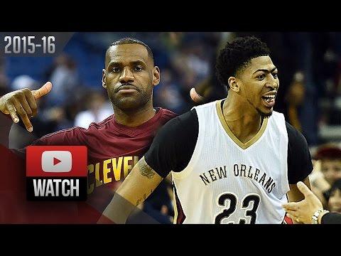 Anthony Davis vs LeBron James Duel Highlights (2015.12.04) Pelicans vs Cavaliers - EPIC!