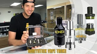 Oz-Ohm, Sub Ohm, Highbrid & Stinger HoneyStick Vape Tanks how to, dry herb, oil & wax voltage