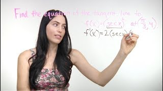 How to Find the Equation of a Tangent Line with Derivatives (NancyPi)