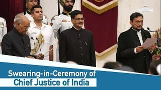 Swearing-in-Ceremony of the Chief Justice of India Justice Sharad Arvind Bobde