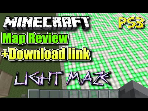 MINECRAFT - PS3 - LIGHT MAZE - MAP REVIEW + DOWNLOAD LINK ( PS4 )  -