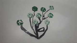 Vẽ hoa bằng trái đậu bắp /Bé học Bé chơi - Kitty vblog