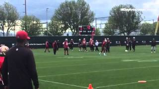 Video: #49ers WR Jerome Simpson, Torrey Smith, Dres Anderson and Issac Blakeney catch out routes at