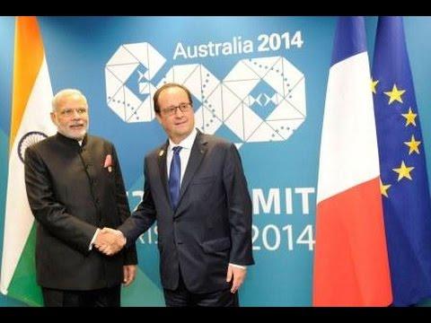 PM Modi meets President of France Francois Hollande in Brisbane, Australia