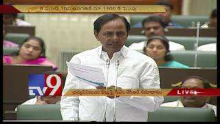 TS Assembly - CM KCR speaks on Money appropriation Bill in house