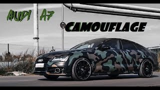 Camouflage A7 S-Line Wrapped by FolienPrinz !!!! #Carporn💥💥