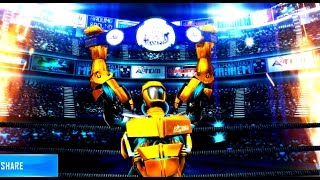 REAL STEEL WRB Final Atom Gold VS Tri Gore Gold New Robots GOLD UPDATE (Живая сталь)