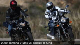 2008 Suzuki B-King vs 2009 Star VMAX