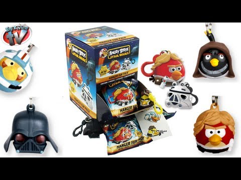 Angry Birds Star Wars 3D Hangers Figures Blind Bag Toy Review. Just Toys Intl