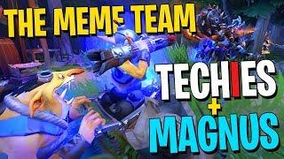 The Meme Team : Techies & Magnus - DotA 2 7.20