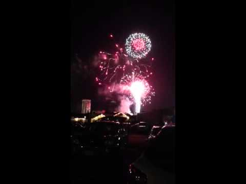 Grand finale of MGM fireworks
