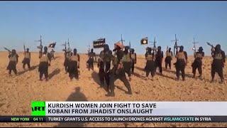 Turkey and Kurdish refugee on ISIS Image