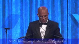 VIDEO: President Martelly est honore par la Fondation Happy Hearts