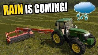 RUSHING TO GET MOWED AND BALED! | FARMING SIMULATOR 2017 | EP#40