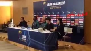 #دوري_بلس - جانب من المؤتمر الصحفي للمنتخب السعودي مع المدرب فان مارفيك والكابتن أسامه هوساوي