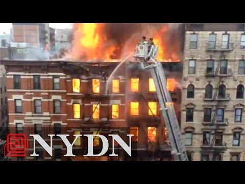 Explosion tears through Manhattan building
