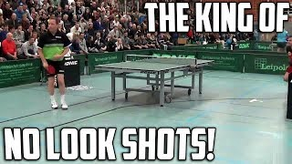 Jan Ove Waldner Hits Two Ridiculous No Look Shots 👀