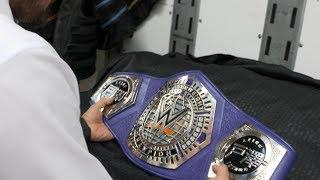 Akira Tozawa receives his custom plates on his new WWE Cruiserweight Championship: Aug. 15, 2017