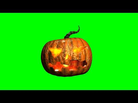 Halloween Pumpkin green screen thumbnail