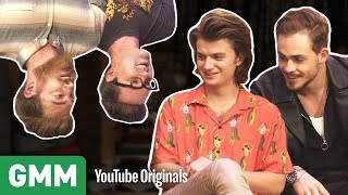 Upside Down Interview w/ Stranger Things' Joe Keery & Dacre Montgomery