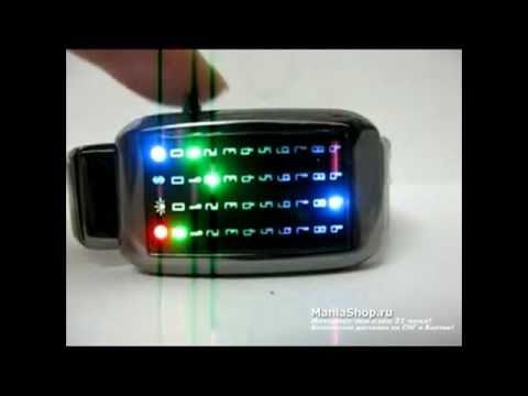 светодиодные часы наручные led