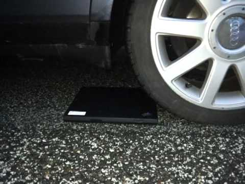 Ibm Lenovo thinkpad T40 crash test car