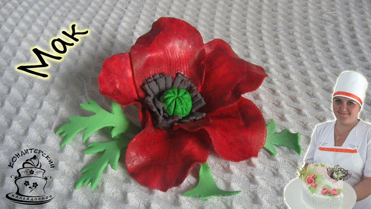 Как сделать полевой цветок из мастики 327