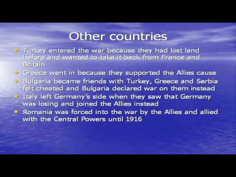 WW1 PowerPoint Short Facts