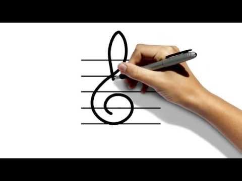 Видео как нарисовать скрипичный ключ