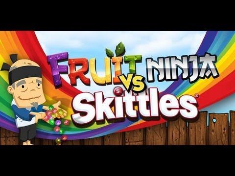 Fruit Skittles Fruit Ninja vs Skittles