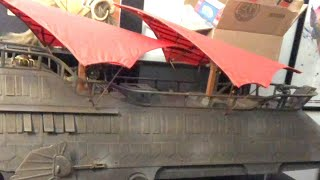 The new toy room and a look at Jabba's sail barge!!