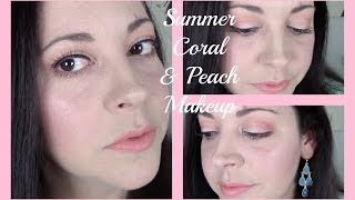 Summer Coral & Peach Makeup Tutorial | Makeup Geek Eyeshadows!