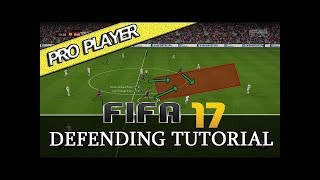 "FIFA 17 (+18) ""DEFENDING TRICK"" - LIVE GAMEPLAY TUTORIAL - PRO TRICK"