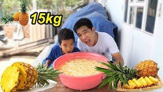 Chậu Nước Ép THƠM, Khóm Khổng Lồ Từ 15kg Qủa Dứa | TQ97