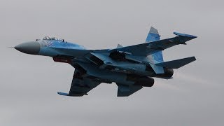 RIAT 2017 Su-27 Demo Ukrainian Air Force The Royal International Air Tattoo