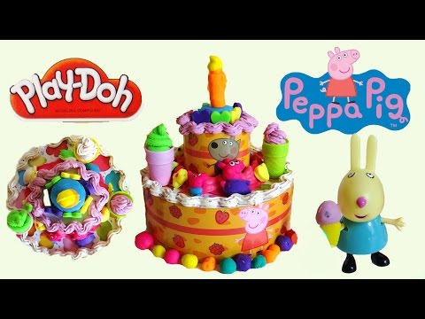 Cake Ice Cream Play Doh : Play Doh Peppa Pig Ice Cream Birthday Cake - YouTube