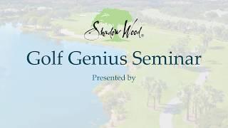 Golf Genius Seminar