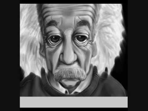 Albert Einstein Caricature Speed Painting