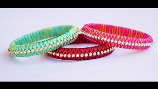 silk thread criss cross bangle making video