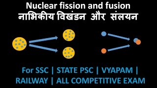 Nuclear fission and fusion in hindi | phycisc for ssc cgl | physics for bank |physics for comp, exam