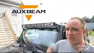 Auxbeam X Series 52 inch LED Bar mounted and used review